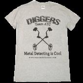 """Anaconda Treasure Co Ash """"Diggers"""" Metal Detecting Is Cool Tee"""