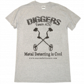 "Anaconda Treasure Co Ash ""Diggers"" Metal Detecting Is Cool Tee"